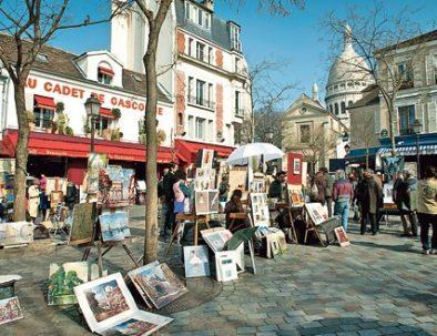 13/03/2012 - Les peintres de la place du Tertre dans le 18eme arrondissement de Paris. PHOTO Vincent BOISOT pour Le Figaro